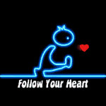 Men, following their heart